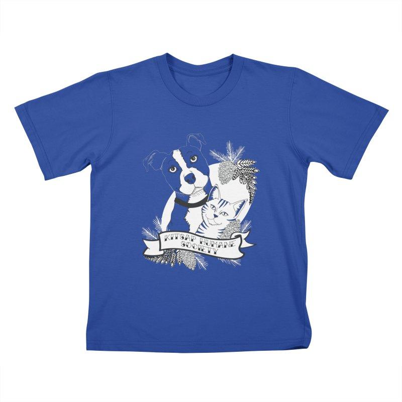 Tattoo Style KHS Kids T-Shirt by Kitsap Humane Society's Artist Shop