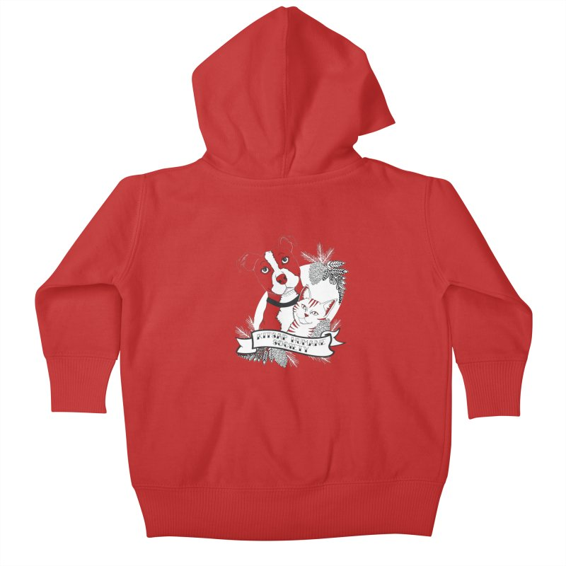Tattoo Style KHS Kids Baby Zip-Up Hoody by Kitsap Humane Society's Artist Shop