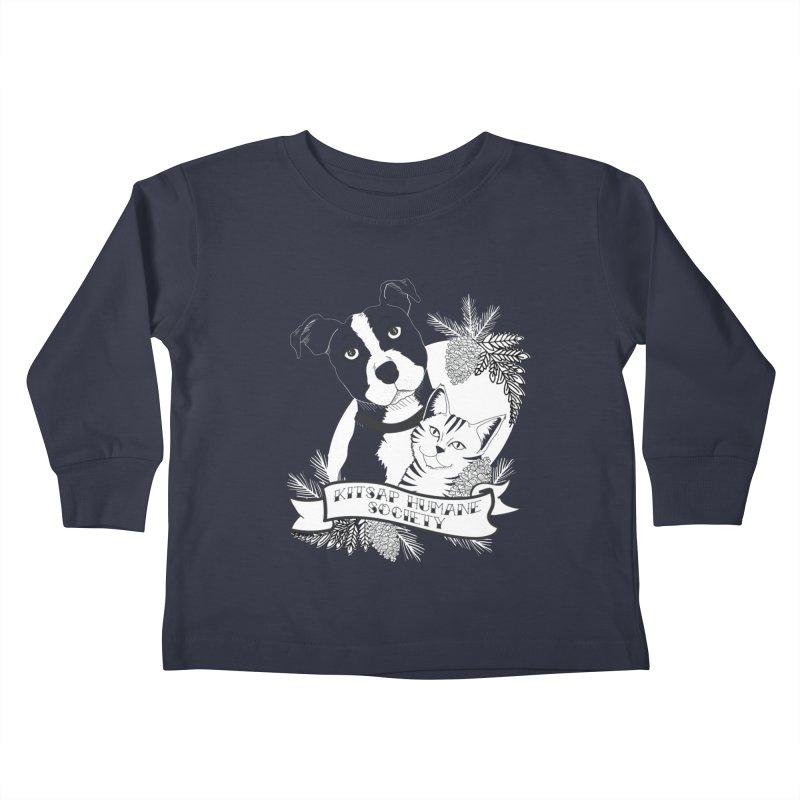 Tattoo Style KHS Kids Toddler Longsleeve T-Shirt by Kitsap Humane Society's Artist Shop