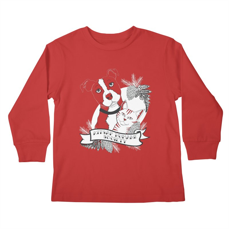 Tattoo Style KHS Kids Longsleeve T-Shirt by Kitsap Humane Society's Artist Shop