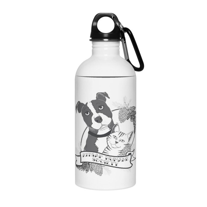 Tattoo Style KHS Accessories Water Bottle by Kitsap Humane Society's Artist Shop