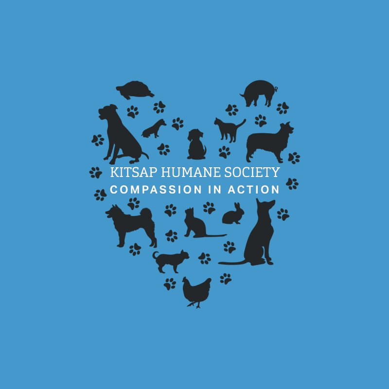 Building a Humane Community Kids T-Shirt by Kitsap Humane Society's Artist Shop