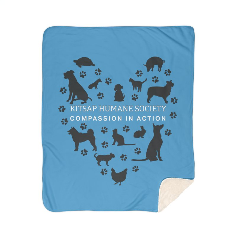 Building a Humane Community Home Blanket by Kitsap Humane Society's Artist Shop