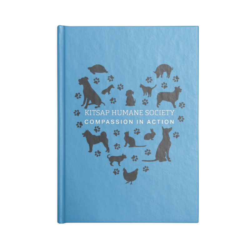 Building a Humane Community Accessories Lined Journal Notebook by Kitsap Humane Society's Artist Shop