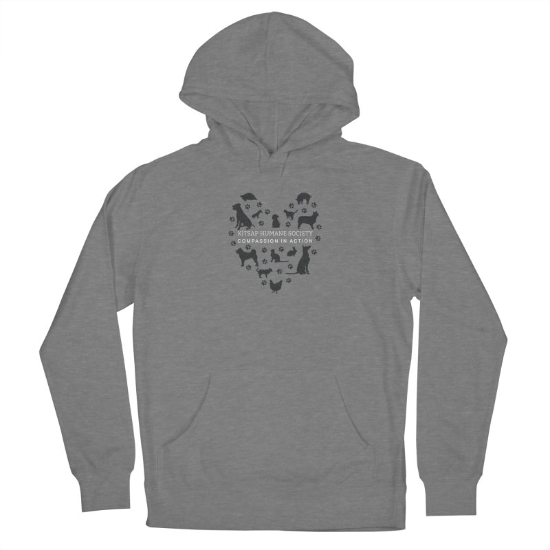 Building a Humane Community Men's French Terry Pullover Hoody by Kitsap Humane Society's Artist Shop