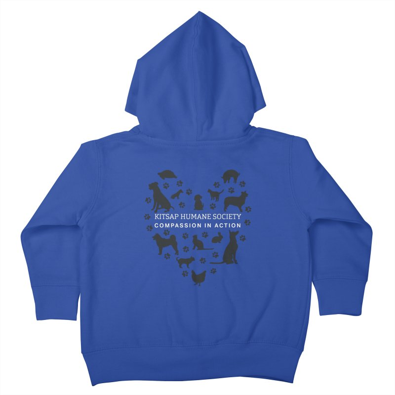 Building a Humane Community Kids Toddler Zip-Up Hoody by Kitsaphumanesociety's Artist Shop
