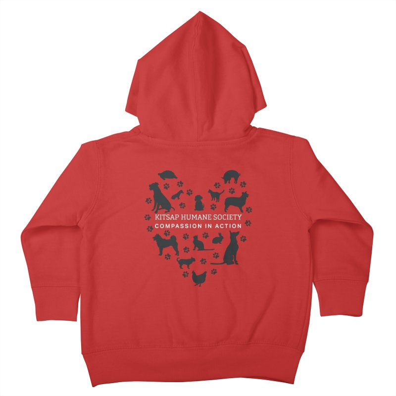 Building a Humane Community Kids Toddler Zip-Up Hoody by Kitsap Humane Society's Artist Shop