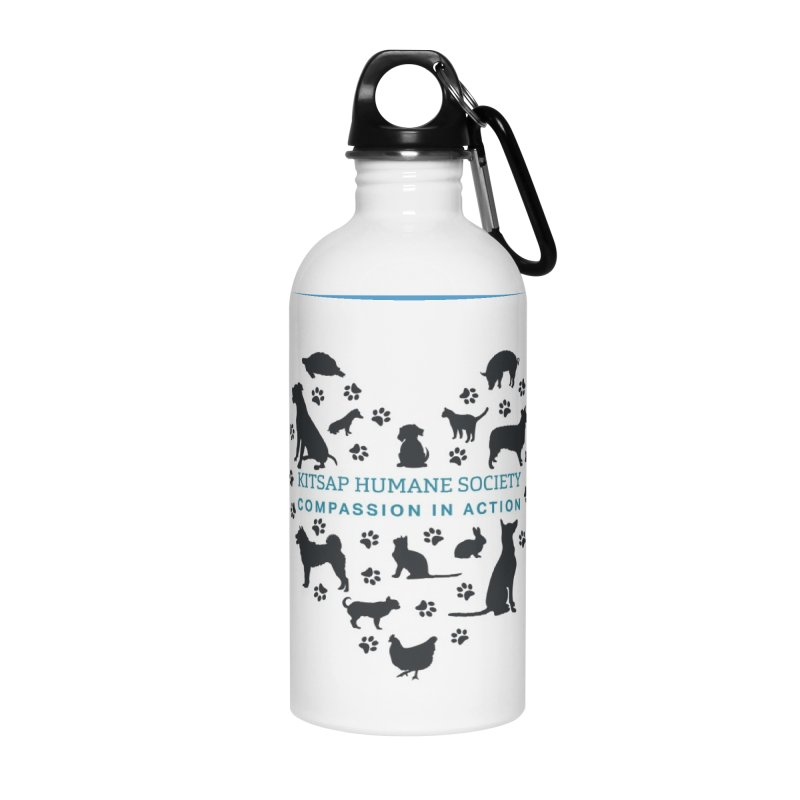 Building a Humane Community Accessories Water Bottle by Kitsap Humane Society's Artist Shop