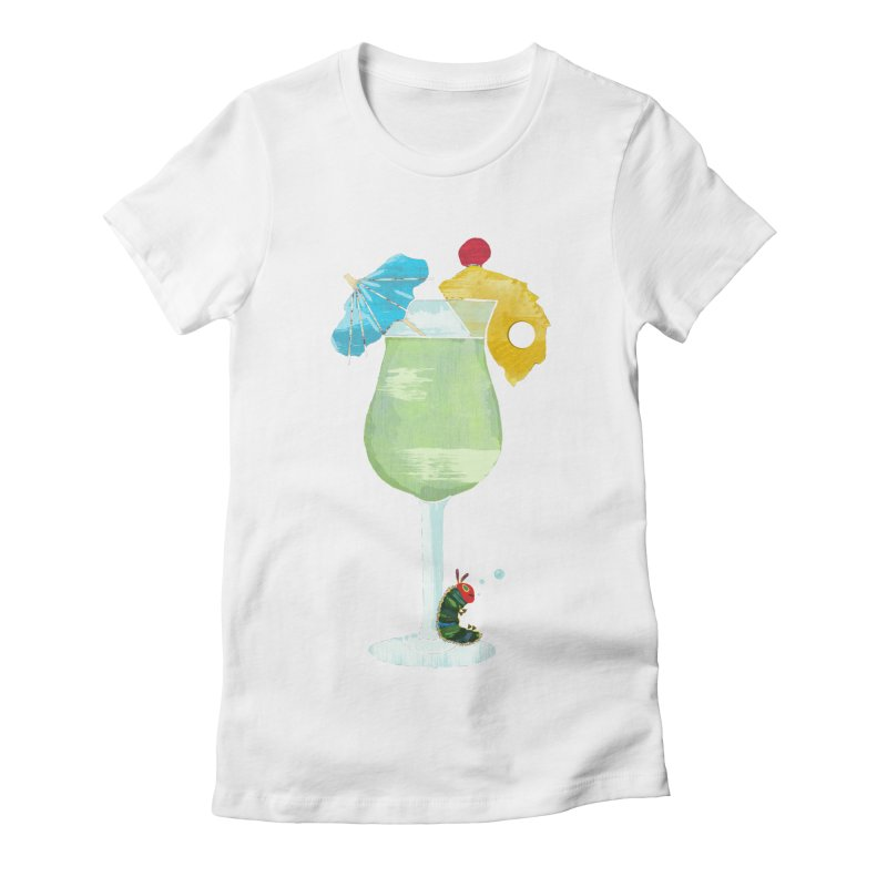 The Very Tipsy Caterpillar Women's Fitted T-Shirt by Kittyatemycamera's Artist Shop