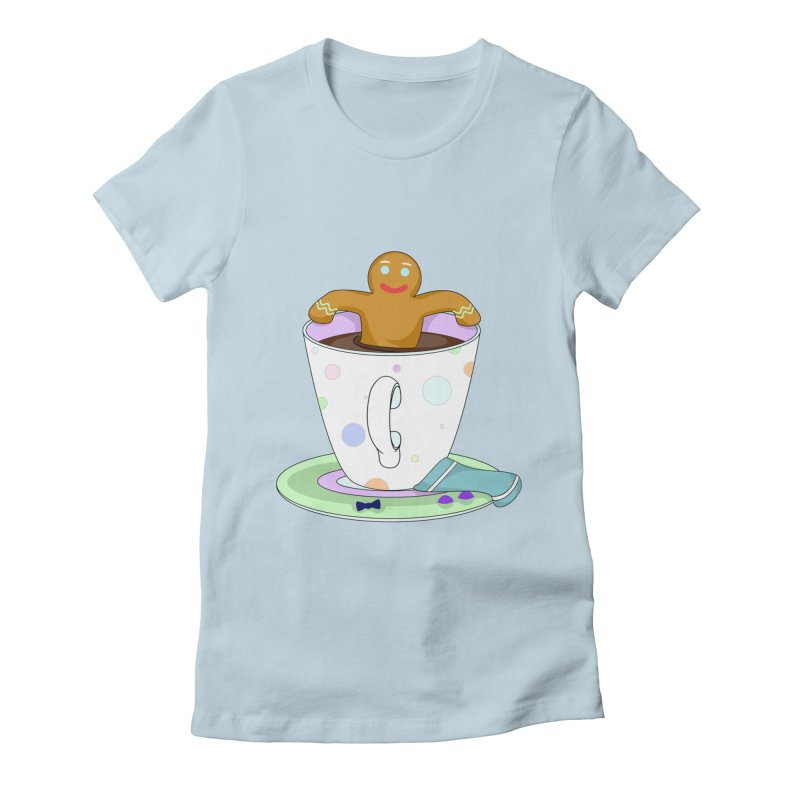 Just dunkin' Women's Fitted T-Shirt by Kittyatemycamera's Artist Shop