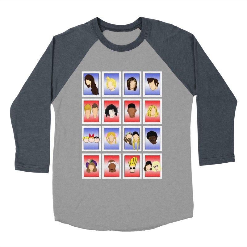 Guess Who  Men's Baseball Triblend T-Shirt by Kittyatemycamera's Artist Shop