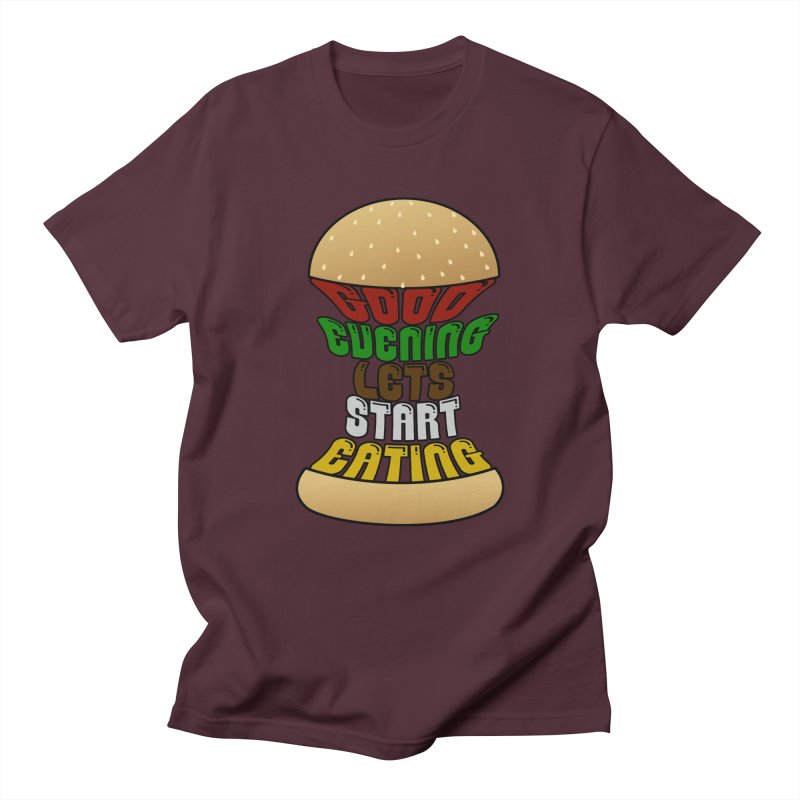 Good evening, lets start eating! Men's T-Shirt by Kittyatemycamera's Artist Shop