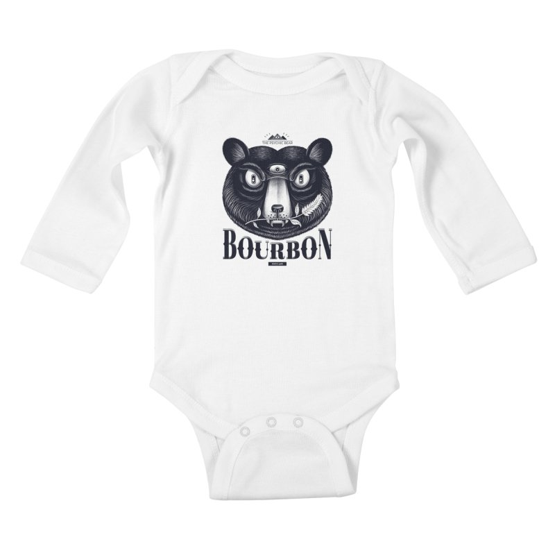 Bourbon Bear Kids Baby Longsleeve Bodysuit by Pierre's Artist Shop
