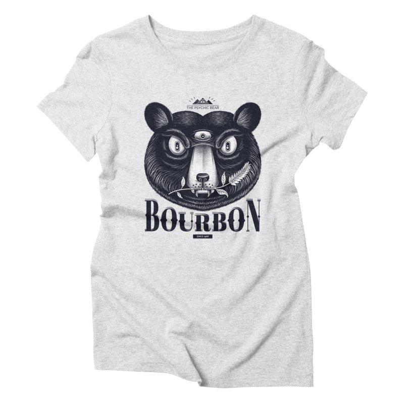 Bourbon Bear Women's Triblend T-Shirt by Pierre's Artist Shop