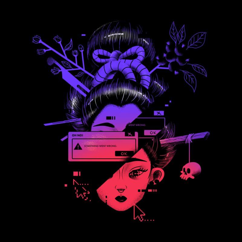 Glitched Geisha T-shirt Men's T-Shirt by Pierre's Artist Shop
