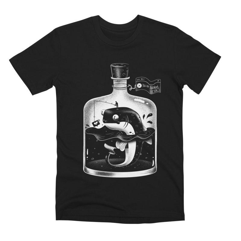 Hooked Tshirt white Men's Premium T-Shirt by Pierre's Artist Shop