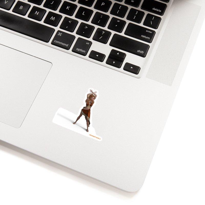 Divinity Goddess in White Sticker by KnightQuest 's Artist Shop