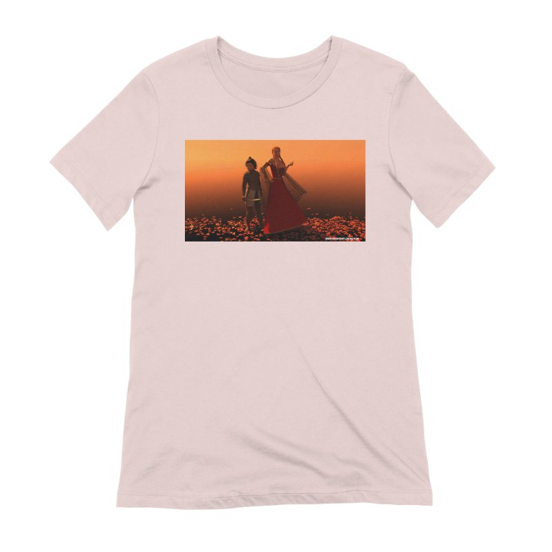 Leaves in Women's Extra Soft T-Shirt Soft Pink by KnightQuest 's Artist Shop