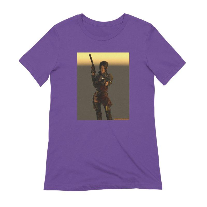 Cyberpunk001 in Women's Extra Soft T-Shirt Purple by KnightQuest 's Artist Shop