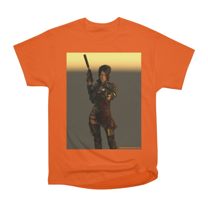 Cyberpunk001 in Men's Heavyweight T-Shirt Orange Poppy by KnightQuest 's Artist Shop
