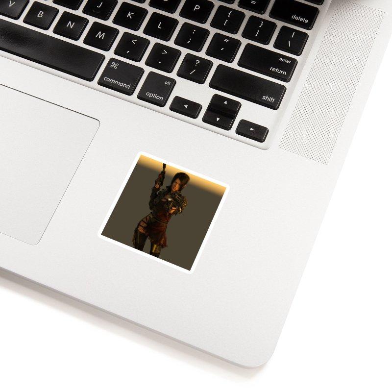 Cyberpunk001 in White Sticker by KnightQuest 's Artist Shop