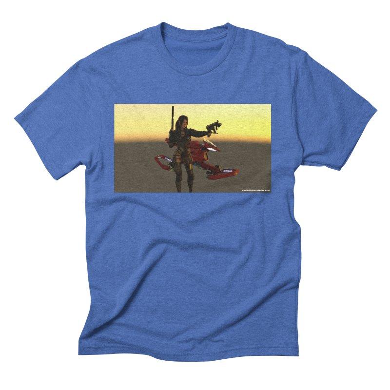 Cyberpunk002 in Men's Triblend T-Shirt Blue Triblend by KnightQuest 's Artist Shop