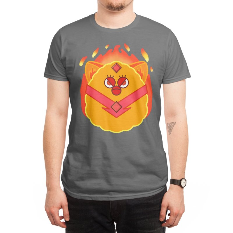 Fired Up Princess Furby Men's T-Shirt by Kitty Nowack Designs