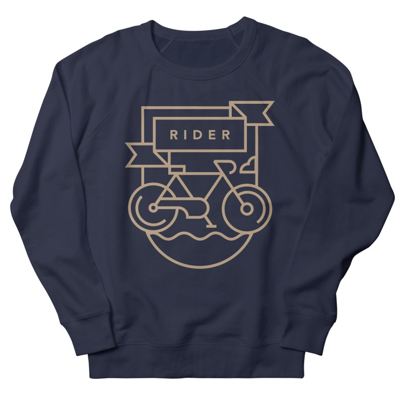 Bike Rider Women's French Terry Sweatshirt by Koivo's Artist Shop