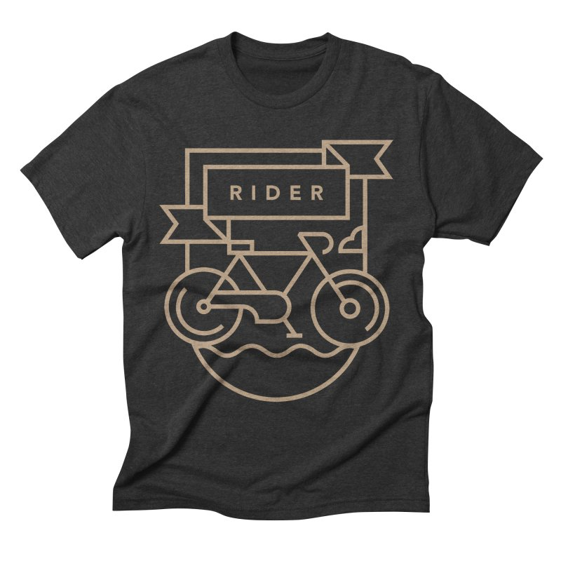Bike Rider Men's Triblend T-shirt by Koivo's Artist Shop
