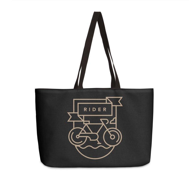 Bike Rider Accessories Weekender Bag Bag by Koivo's Artist Shop