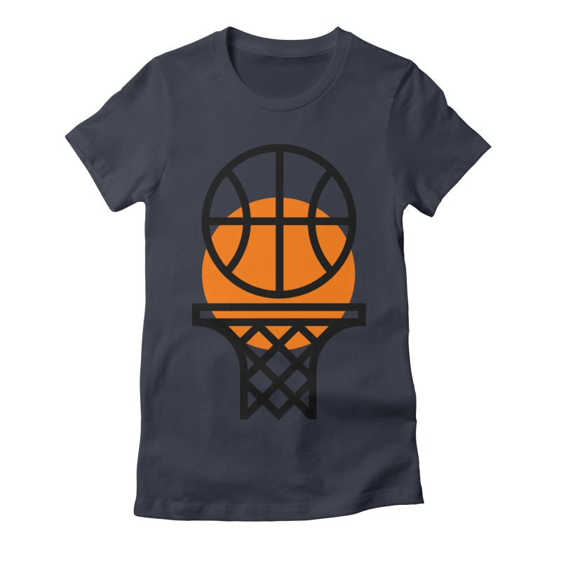 Basketball Women's Fitted T-Shirt by Koivo's Artist Shop