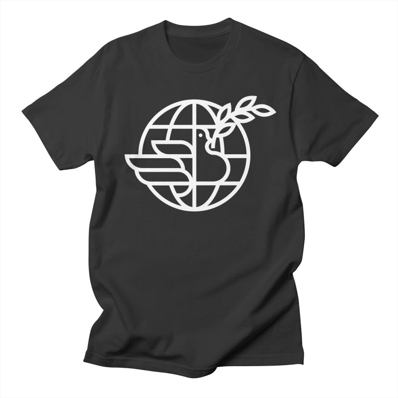 Peace in the World Men's Regular T-Shirt by Koivo's Artist Shop