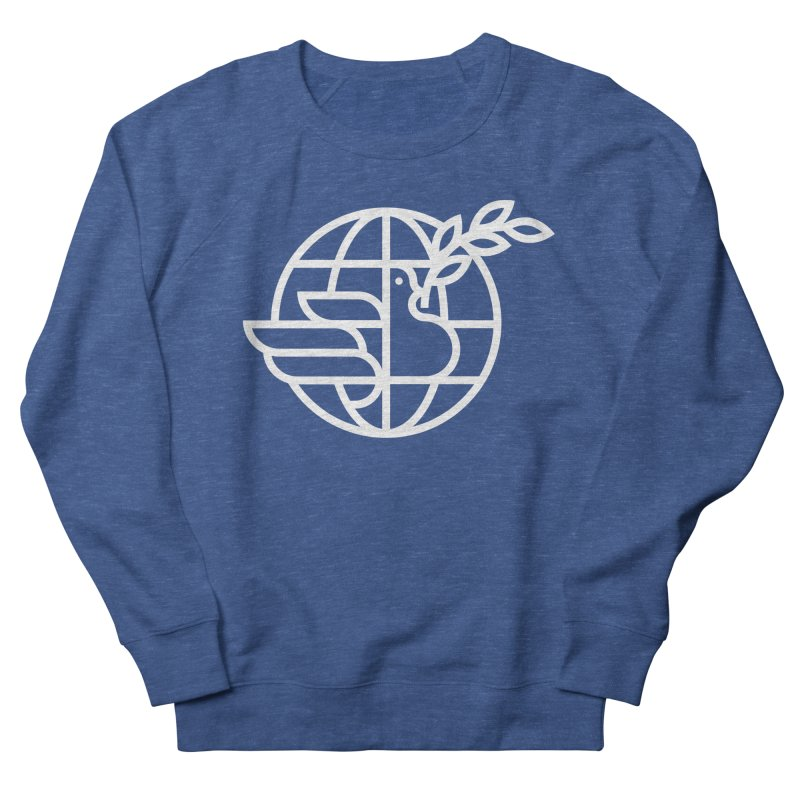 Peace in the World Men's French Terry Sweatshirt by Koivo's Artist Shop