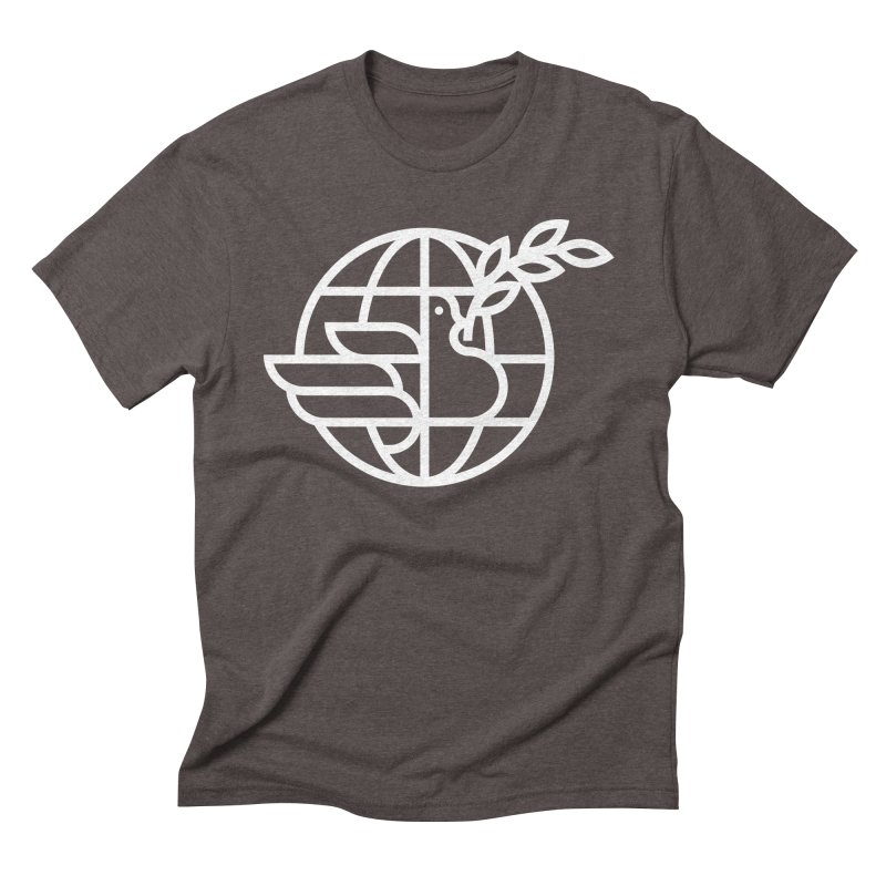 Peace in the World Men's Triblend T-Shirt by Koivo's Artist Shop