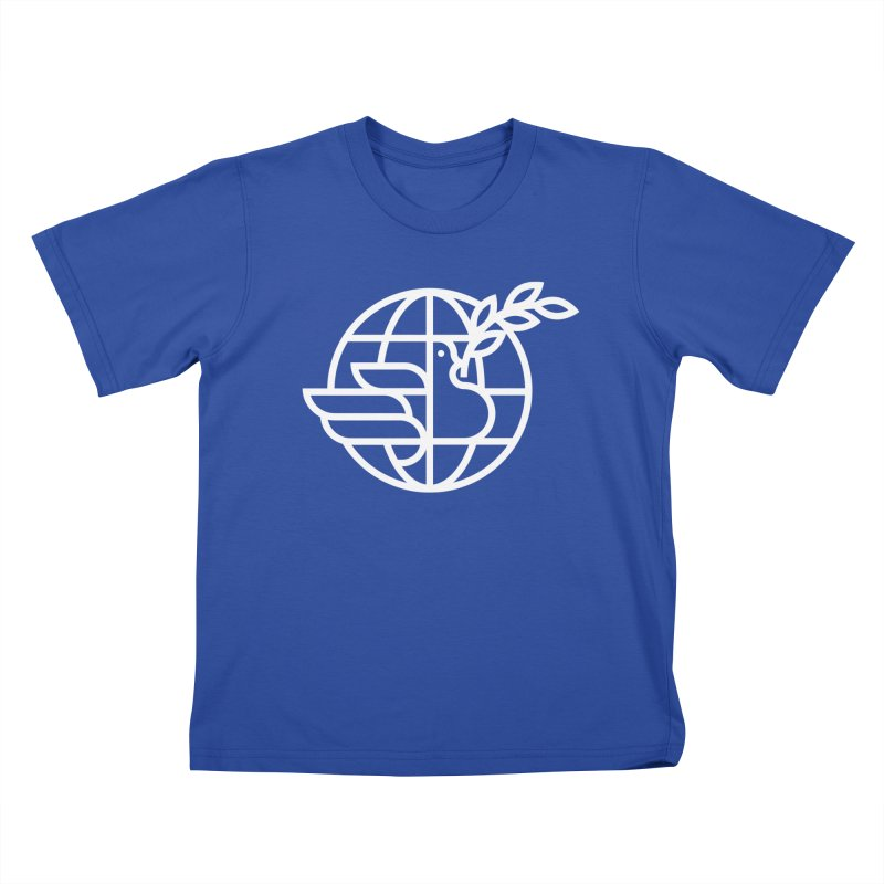 Peace in the World Kids T-Shirt by Koivo's Artist Shop