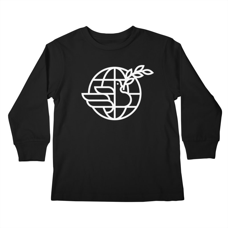 Peace in the World Kids Longsleeve T-Shirt by Koivo's Artist Shop