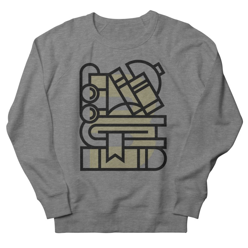 B for Books Men's French Terry Sweatshirt by Koivo's Artist Shop