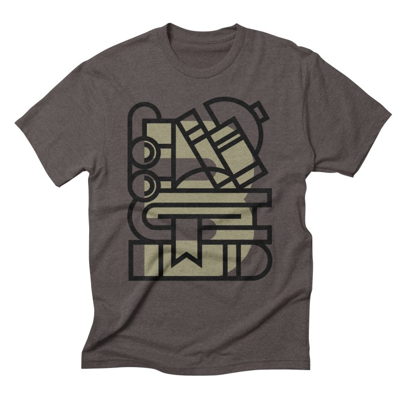 B for Books Men's Triblend T-Shirt by Koivo's Artist Shop