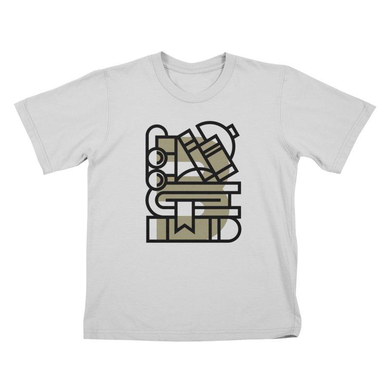 B for Books Kids T-Shirt by Koivo's Artist Shop