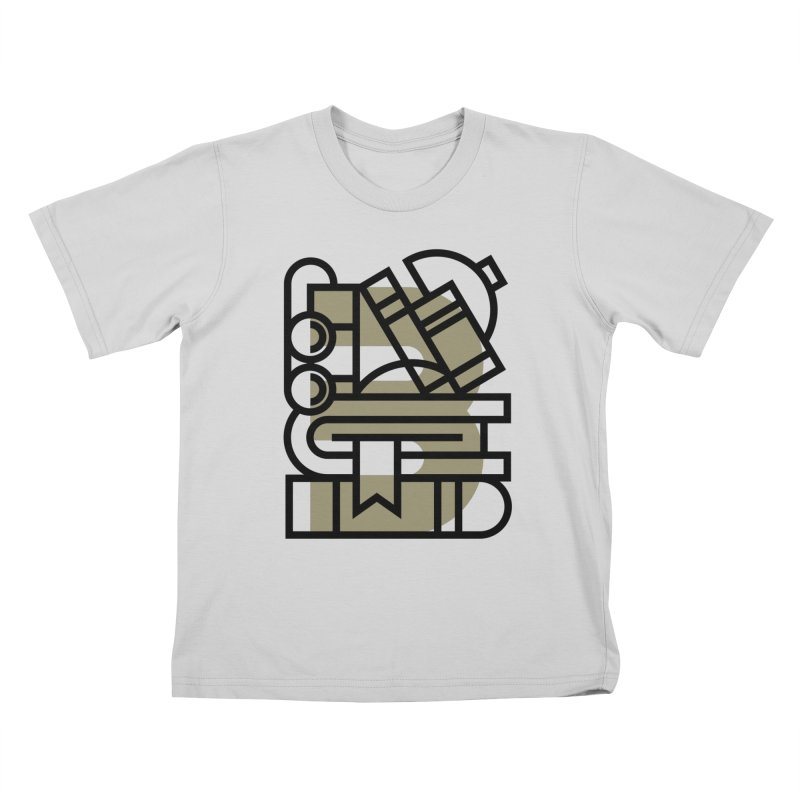 B for Books Kids T-Shirt by Koivo's Artist Shop