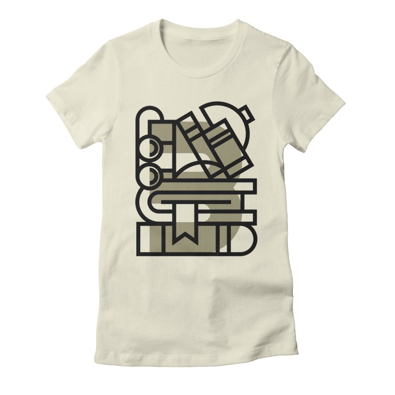 B for Books Women's Fitted T-Shirt by Koivo's Artist Shop