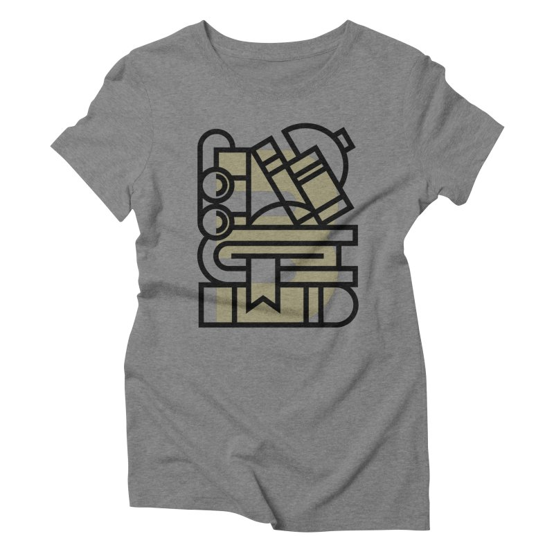 B for Books Women's Triblend T-Shirt by Koivo's Artist Shop