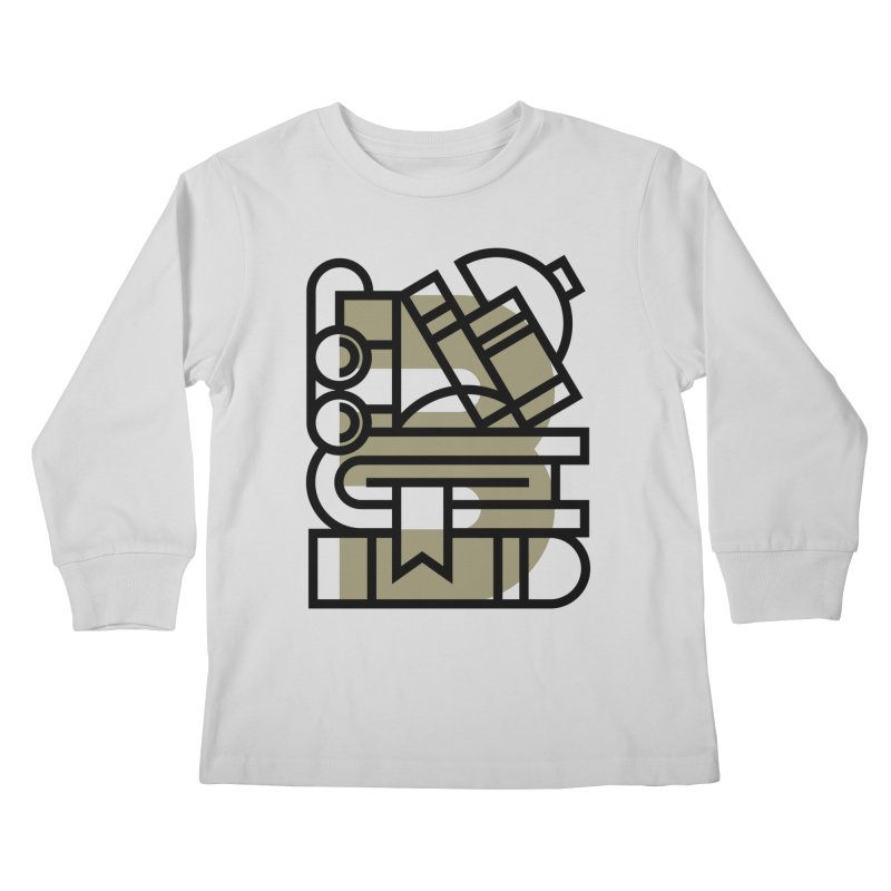 B for Books Kids Longsleeve T-Shirt by Koivo's Artist Shop
