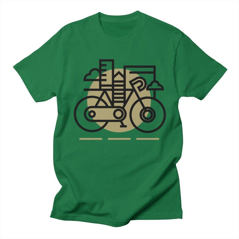 City Bike Men's Regular T-Shirt by Koivo's Artist Shop