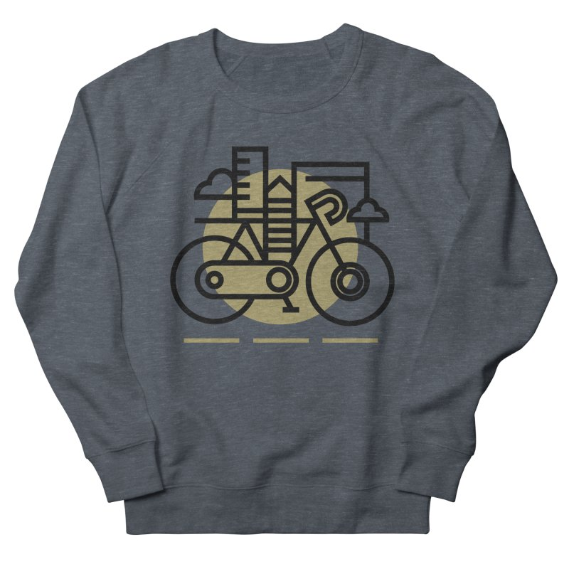 City Bike Men's Sweatshirt by Koivo's Artist Shop