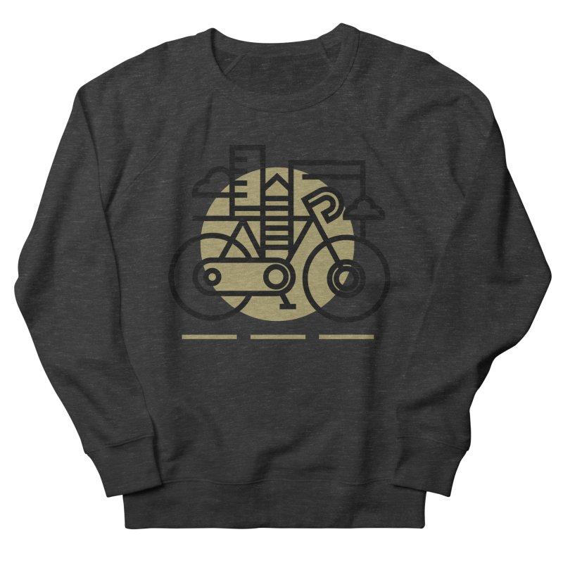 City Bike Men's French Terry Sweatshirt by Koivo's Artist Shop