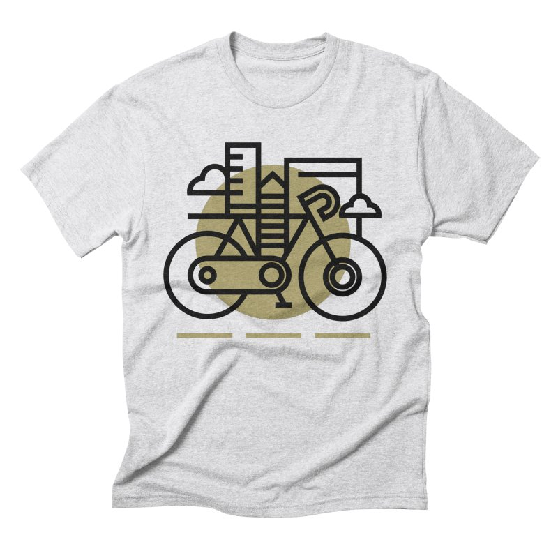 City Bike Men's Triblend T-Shirt by Koivo's Artist Shop