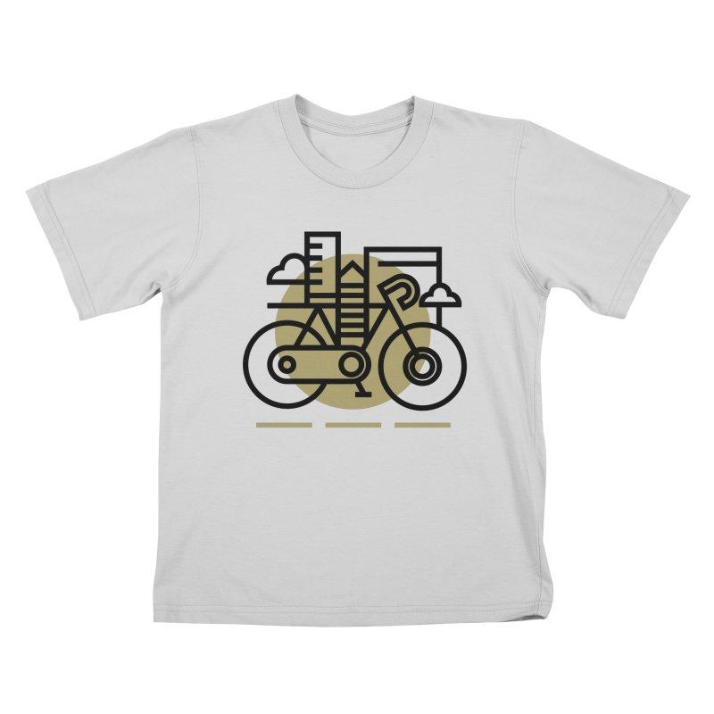City Bike Kids T-Shirt by Koivo's Artist Shop