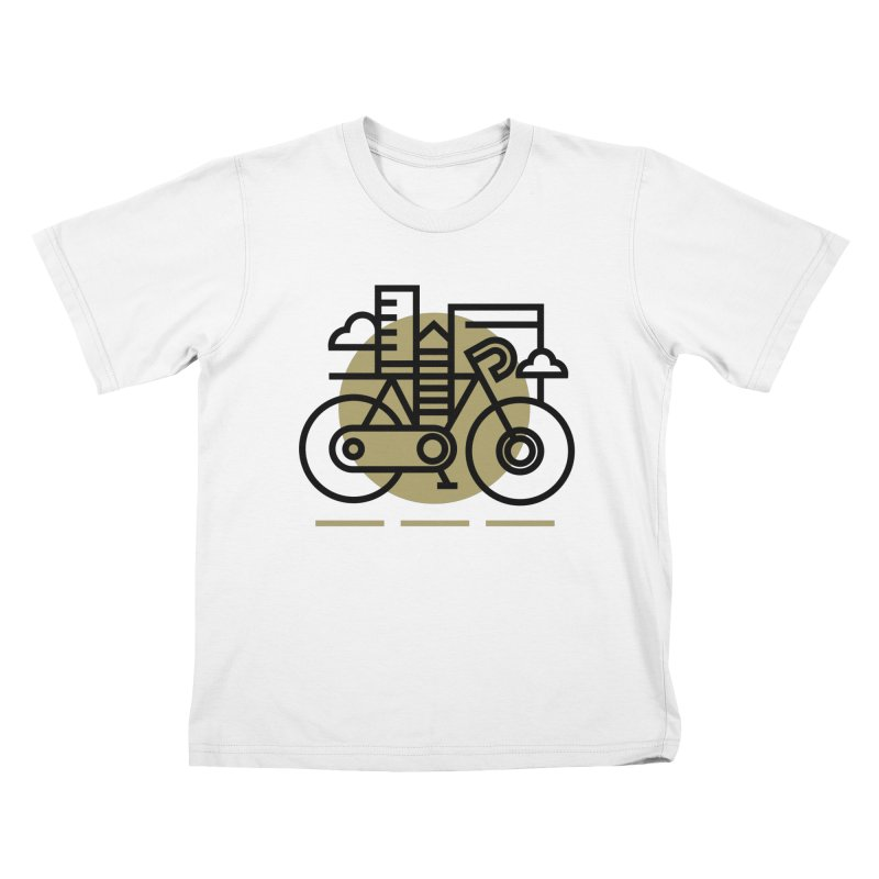 City Bike Kids T-shirt by Koivo's Artist Shop