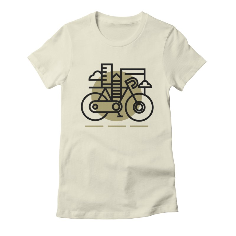 City Bike Women's Fitted T-Shirt by Koivo's Artist Shop